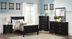Mayville 5pc Black Twin Sleigh Bedroom Group Available Online in Dallas Fort Worth Texas