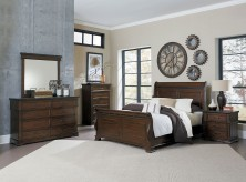 Homelegance Schleiger 5pc Brown King Sleigh Bedroom Group Available Online in Dallas Fort Worth Texas