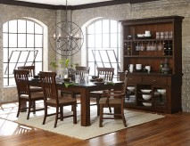 Homelegance Schleiger 7pc Brown Dining Table Set Available Online in Dallas Fort Worth Texas