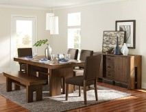 Homelegance Sedley 5pc Walnut Dining Table Set Available Online in Dallas Fort Worth Texas