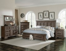 Homelegance Toulon 5pc Dark Oak Queen Platform with Footboard Storage Bedroom Group Available Online in Dallas Fort Worth Texas