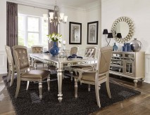 Homelegance Orsina 7pc Silver Dining Table Set Available Online in Dallas Fort Worth Texas