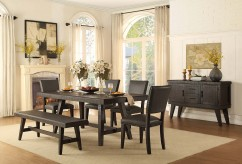 Homelegance Fenwick 5pc Dark Gray Rectangular Dining Table Set Available Online in Dallas Fort Worth Texas