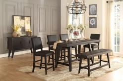 Homelegance Fenwick 5pc Dark Gray Counter Height Dining Room Set Available Online in Dallas Fort Worth Texas