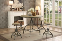 Homelegance Beacher 5pc Round Adjustable Height Dining Table Set Available Online in Dallas Fort Worth Texas