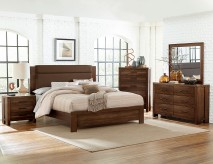 Homelegance Sedley 5pc Walnut King Upholstered Bedroom Group Available Online in Dallas Fort Worth Texas