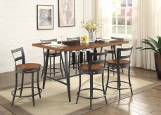 Homelegance Selbyville 7pc Cherry/Gunmetal Counter Height Dining Room Set Available Online in Dallas Fort Worth Texas