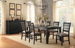 Homelegance Stevensville 7pc Dark Brown Rectangular Dining Table Set Available Online in Dallas Fort Worth Texas