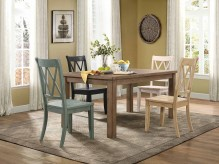 Homelegance Janina 5pc Natural/Pine Rectangular Dining Table Set Available Online in Dallas Fort Worth Texas
