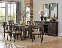 Homelegance Mattawa 7pc Brown Rectangular with Butterfly Leaf Dining Table Set Available Online in Dallas Fort Worth Texas