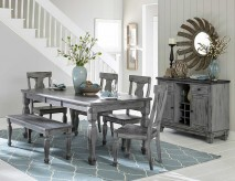 Homelegance Fulbright 5pc Grey Rectangular Dining Table Set Available Online in Dallas Fort Worth Texas