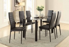 Homelegance Florian 7pc Black Dining Table Set Available Online in Dallas Fort Worth Texas