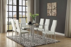Homelegance Florian 7pc White Dining Table Set Available Online in Dallas Fort Worth Texas