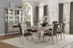 Homelegance Crawford 7pc Silver Dining Table Set Available Online in Dallas Fort Worth Texas