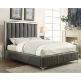 Coaster Jared Grey King Upholstered Platform Bed Available Online in Dallas Fort Worth Texas
