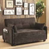 Coaster Sambo Dark Brown Sofa Bed Available Online in Dallas Fort Worth Texas