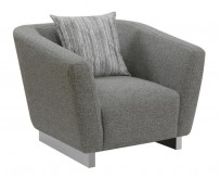 Coaster Grayson Gray Chair with Angled Shelter Arms Available Online in Dallas Fort Worth Texas