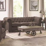 Coaster Roy Grey Sofa Available Online in Dallas Fort Worth Texas