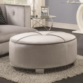 Coaster Caldwell Silver Ottoman Available Online in Dallas Fort Worth Texas