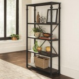 Coaster Galway Dark Grey and Black Bookcase Available Online in Dallas Fort Worth Texas