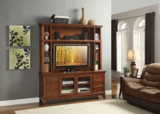 Homelegance Culbert 2pc Warm Cherry Wall Unit Available Online in Dallas Fort Worth Texas