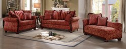 Homelegance Grand Isle 2pc Red Sofa and Loveseat Set Available Online in Dallas Fort Worth Texas