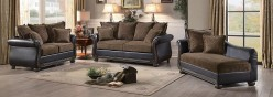 Homelegance Grand Isle 2pc Brown Fabric/Dark Brown Sofa and Loveseat set Available Online in Dallas Fort Worth Texas