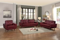 Homelegance Deryn 2pc Red Sofa & Love Seat Set Available Online in Dallas Fort Worth Texas