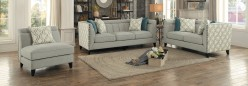 Homelegance Temptation 2pc Light Gray Sofa & Love Seat Set Available Online in Dallas Fort Worth Texas