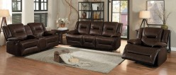 Homelegance Okello 2pc Brown Double Reclining Sofa & Love Seat Set Available Online in Dallas Fort Worth Texas