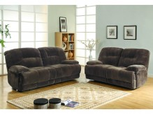 Homelegance Geoffrey 2pc Chocolate Double Reclining Sofa & Love Seat Set Available Online in Dallas Fort Worth Texas