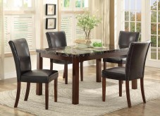 Homelegance Belvedere II 5pc Espresso Dining Table Set Available Online in Dallas Fort Worth Texas
