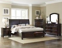 Homelegance Faust 5pc Dark Cherry King Bedroom Group Available Online in Dallas Fort Worth Texas