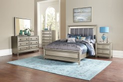 Homelegance Hedy 5pc Silver King Bedroom Group Available Online in Dallas Fort Worth Texas