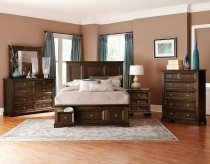 Homelegance Eunice 5pc Espresso King Platform Bedroom Group Available Online in Dallas Fort Worth Texas
