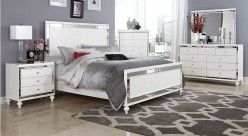 Alonza 5pc Bright White King Bedroom Group Available Online in Dallas Fort Worth Texas