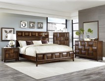 Porter 5pc Warm Walnut Queen Bedroom Group Available Online in Dallas Fort Worth Texas