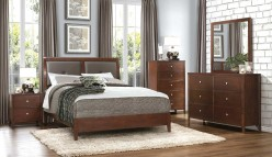 Homelegance Cullen 5pc Brown Cherry Queen Sleigh Bedroom Group Available Online in Dallas Fort Worth Texas