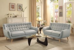 Homelegance Anke 2pc Light Grey Sofa & Loveseat Set Available Online in Dallas Fort Worth Texas