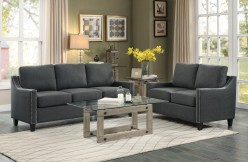 Homelegance Pagosa 2pc Dark Grey Sofa & Loveseat Set Available Online in Dallas Fort Worth Texas
