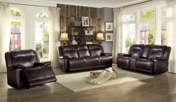 Homelegance Wasola 2pc Dark Brown Reclining Sofa & Loveseat Set Available Online in Dallas Fort Worth Texas