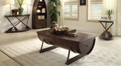 Homelegance Hatchett Lake 3pc Brown Cherry Coffee Table Set Available Online in Dallas Fort Worth Texas