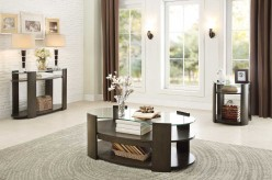 Homelegance Sicily 3pc Coffee Table With Glass Top Set Available Online in Dallas Fort Worth Texas