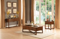 Homelegance Capitan 3pc Cherry Coffee Table Set Available Online in Dallas Fort Worth Texas
