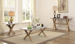 Homelegance Luella 3pc Weathered Oak Coffee Table Set Available Online in Dallas Fort Worth Texas