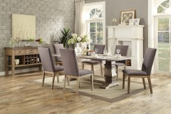 Homelegance Anna Claire 7pc Oak Rectangular Dining Table Set Available Online in Dallas Fort Worth Texas