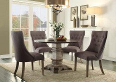 Homelegance Anna Claire 5pc Round Dining Table Set with Side Wing Chair Available Online in Dallas Fort Worth Texas