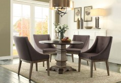 Homelegance Anna Claire Oak 5pc Dining Table Set With Curved Arm Chair Available Online in Dallas Fort Worth Texas
