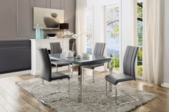 Homelegance Miami 5pc Dark Grey Dining Table Set Available Online in Dallas Fort Worth Texas