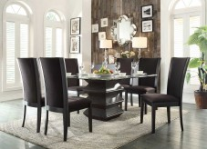 Homelegance Havre 7pc Dark Brown Dining Table Set Available Online in Dallas Fort Worth Texas